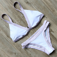 Lavender Outlined Two-Piece Bikini