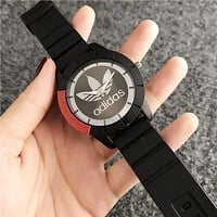 "Hot Sale ""Adidas"" Trending Women Men Stylish Movement Silicone Watch Couple Wristwatch I13276-1"