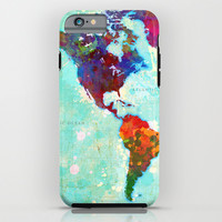 Abstract Map of the World iPhone & iPod Case by Gary Grayson