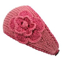 Amazon.com: Two Tone Coral Hand Made Wide Cotton Knit Headband With Flower: Clothing