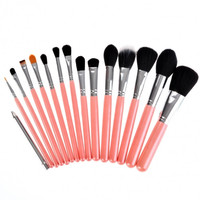 New Fashion Lady Women's 15pcs Makeup Brushes Set Powder Foundation Eye Shadow Eyeliner Lip Brush Tool