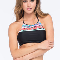 HOBIE Deco High Neck Crop Bikini Top | Tops
