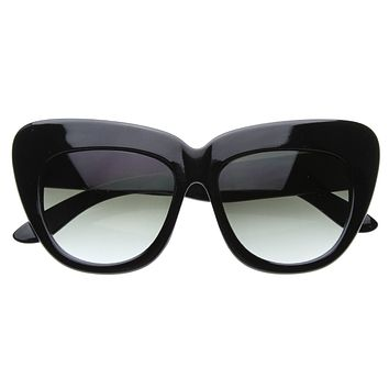 Designer Fashion Oversize Cat Eye Sunglasses 8300