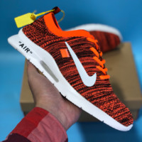 DCCK N516 Nike Air Zoom Off White Roshe Flyknit Mesh Sport Casual Shoes Orange