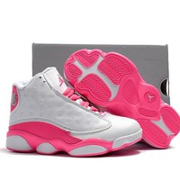 Kids Air Jordan 13 White Pink 2018 - Beauty Ticks