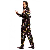 Cozy Electric Guitar adult Onesuit footed Pajamas