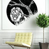 Vinyl Wall Decal Sticker Lion at Night #OS_AA1553