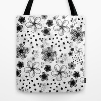 sketchy flowers Tote Bag by spinL