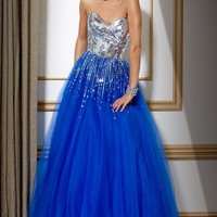 Mirror Sequin Ball Gown, Evening Dress Style 159499