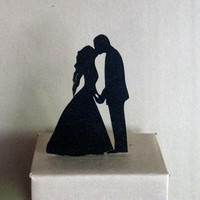 Wedding Cake Topper - First Kiss