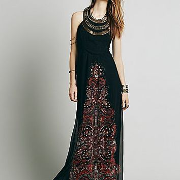 Free People Womens Demeter Gown - Black Combo