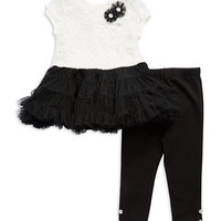 Little Me Baby Girls Two Piece Lace Tutu Dress Set