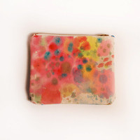 SALE The Sweet Dreams Hand Painted Small Canvas Pouch by kindah