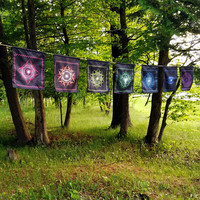 Chakra Prayer Flags // Psychedelic Men and Womens Festival Clothing, Accessories & Decor by Samuel Farrand