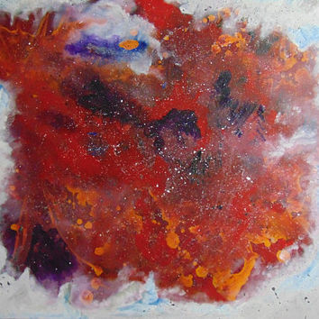 Under Ice - Original abstract painting by Catherine Phillips