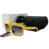 READY STOCK Oakley Original Unisex Sunglasses Frogskins Yellow Gray oak