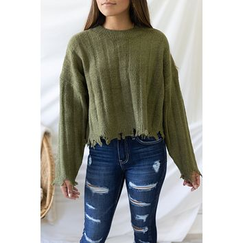 No Matter The Day Sweater - Olive