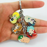 Nanatsu No Taizai Seven Deadly Sins Metal Figures Pendant Keychain Charms Key Ring