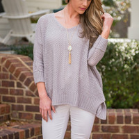 Perfect Weather Sweater, Lilac