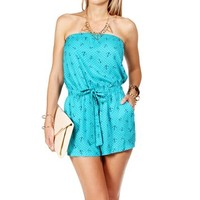 Turquoise Anchor Romper