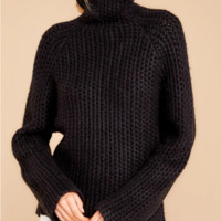 New high round neck solid color large size sweater
