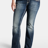 Plus Size - Vigoss Slim Boot Flap Pocket Jeans - Medium Sandblast