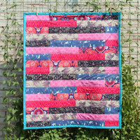 Turquoise, Pink and Purple Baby Quilt