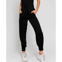 High Class Satin Joggers - Black