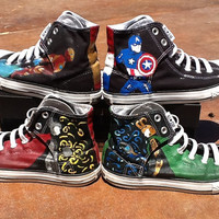 Avengers Hand Painted Converse High Tops