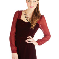 ModCloth Long Long Sleeve Diva Life to the Fullest Romper