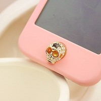 Cool Skull Home Button Sticker for iPhone 4,4s,5
