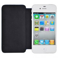 For Apple iPhone 4/CDMA/4S Flip Snap-on Cover Case Black