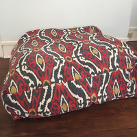 35x35 Large Floor Pillow Cover Southwestern Style, Dog Bed
