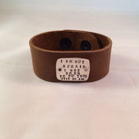 """Elisa Sullivan- """"I am not afraid, I was born to do this"""" Joan of Arc. Distressed Leather and Sterling"""