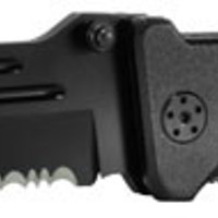 Smith & Wesson Border Guard Knife Black Srtd Stainless Tanto