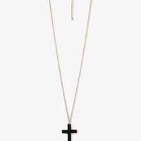 Glossy Cross Necklace