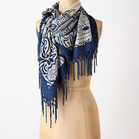 Tasseled Blueprint Scarf