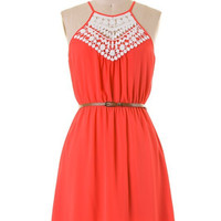 Fun Festivities Dress - Coral