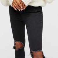 High-Rise Busted Skinny Jeans