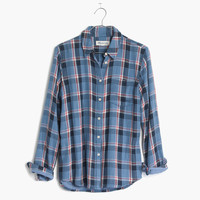 Flannel Cozy Shirt in Blue Plaid