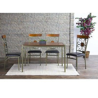 Wood Metal Contemporary Dining Table Furniture Desk New Free Shipping