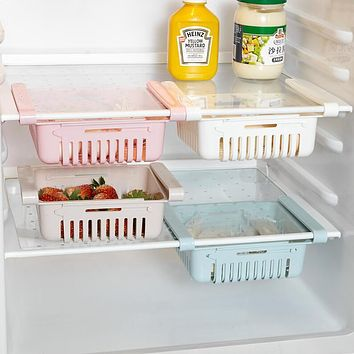 Refrigerators Receive A Case Can Be Smoked Pull Stretch Of Fruits And Vegetables To Receive Frame Type Classification Shelf Preservation Box