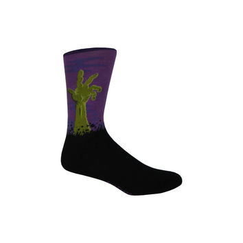 Zombies Crew Socks in Purple