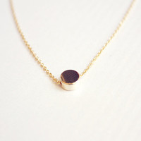 tiny dot necklace - minimalist gold necklace - dainty jewelry