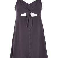 PETITE Knot Front Mini Dress - New In Dresses - New In