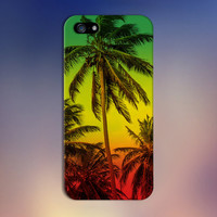 Rasta Jamaica Palm Trees x Red Yellow Green Case for iPhone 6 6 Plus iPhone 5 5s 5c iPhone 4 4s Samsung Galaxy s6 s5 s4 & s3 and Note 4 3 2