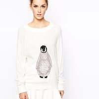 French Connection Penguin Intarsia Knitted Sweater