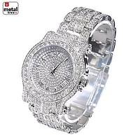 Jewelry Kay style Men's Fashion Analog Stainless Steel Iced Out Heavy Metal Band Watches WM 7341 S