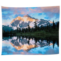 Mt. Shuckson Reflected In Picture Lake Tapestry