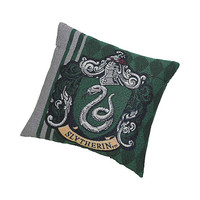Harry Potter Slytherin Crest Woven Tapestry Pillow